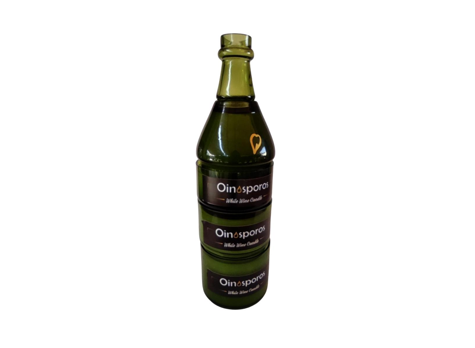 Oinosporos Bottle Candle