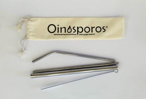 Oinosporos Stainless Steel Straws